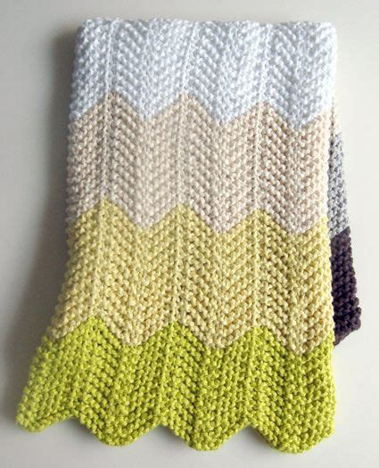 knitted ripple baby blanket knit baby blanket knitting