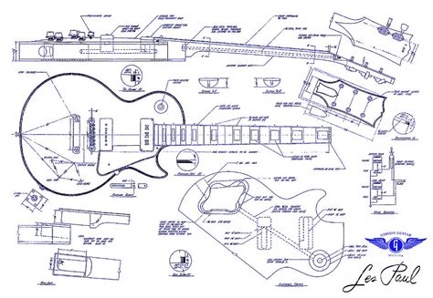 blueprint drawing gibson les paul blueprint drawing drawing by jon neidert