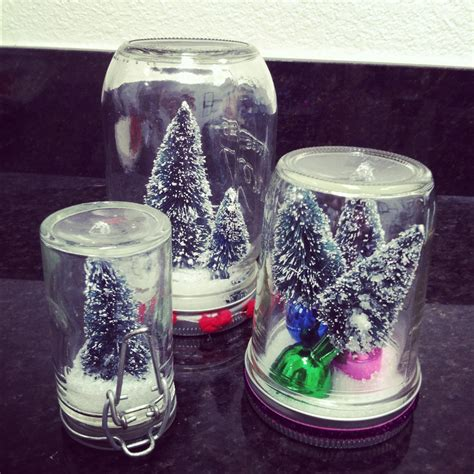 Glass Jar Snow Globe Craft Preschool Crafts