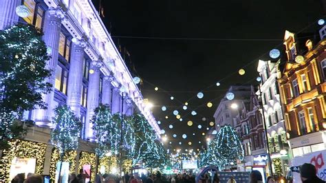 oxford st lights lights in oxford switched on
