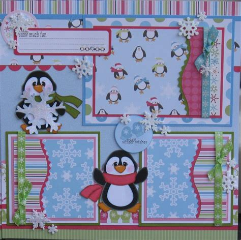 scrapbook paper crafts ideas you to see penguins scrapbook layout by designsoncloud9