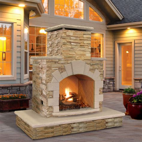 outdoor fireplace calflame propane gas outdoor fireplace ebay