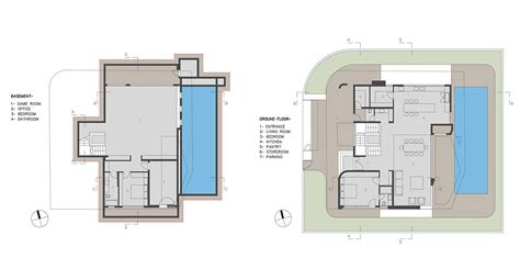 Houses Floor Plan basement ground floor plan intriguing contemporary villa