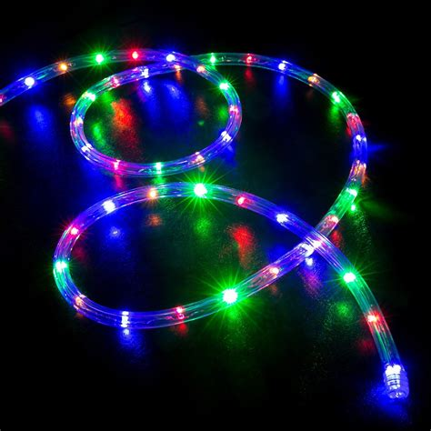 multicolor led light 50 multi color rgb led rope light home outdoor