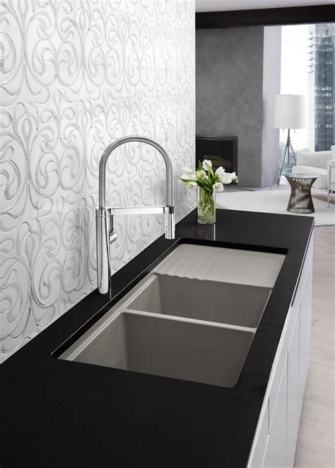 kitchen sinks and faucets designs modern kitchen designs blanco truffle faucet and sink kitchen designs by ken