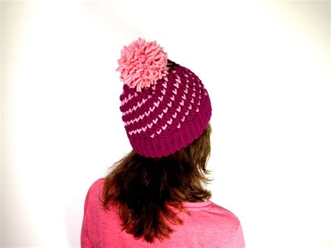 how to knit a hat with a loom how to loom knit a bicolor mini hearts spiral hat diy