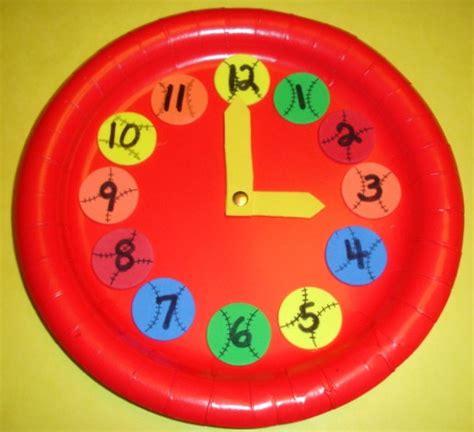 paper plate clock craft learning ideas grades k 8 make a baseball paper plate
