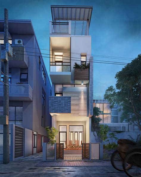 narrow lot house designs drawing of small lot house plan idea modern sustainable