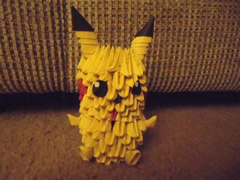 3d origami pikachu 3d origami pikachu by mewmewcat12 on deviantart