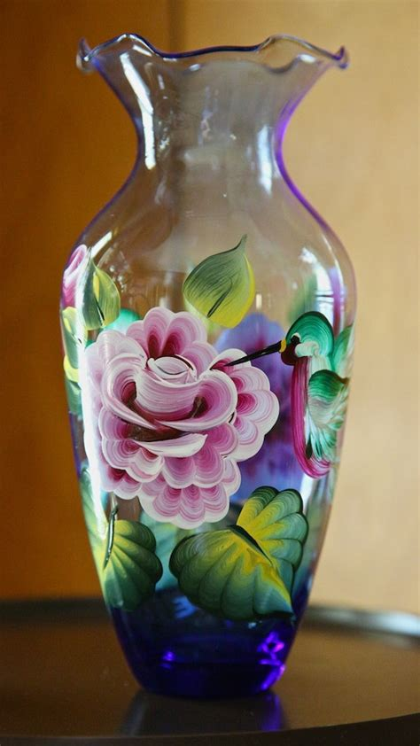 acrylic painting glass 17 best ideas about painted glass vases on
