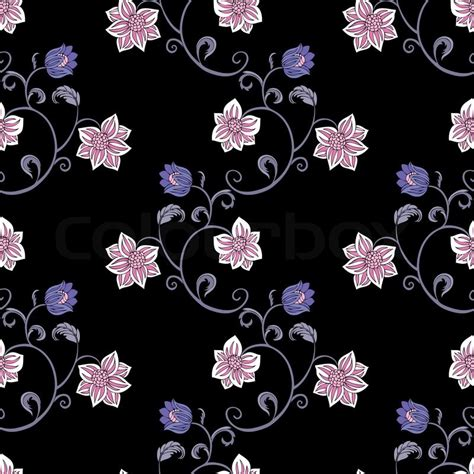 Home Textile Design Jobs abstract background with flowers fashion seamless pattern