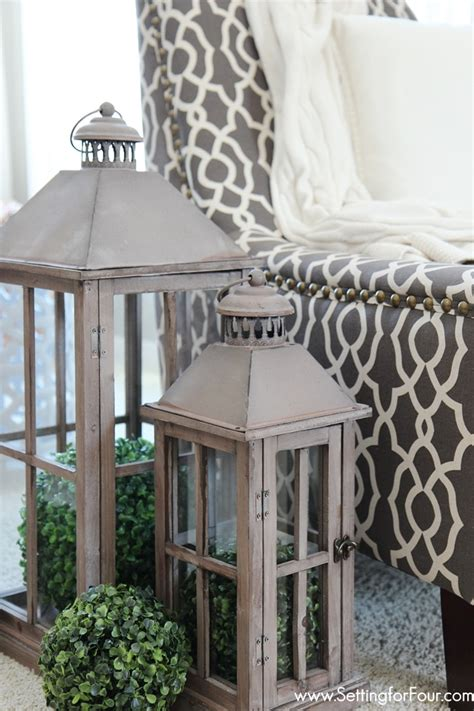 how to decorate lanterns for home tour setting for four