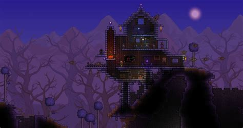 Build My Dream House my cabin out in the corruption inspired by a terraria