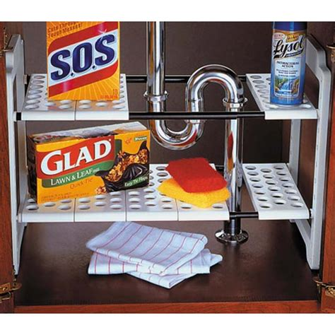 the kitchen sink organizer expandable sink storage shelf in sink organizers