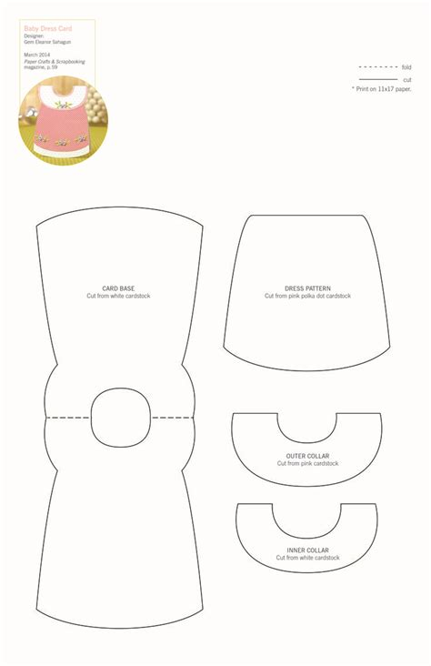 dress template for card baby dress card template baby cards