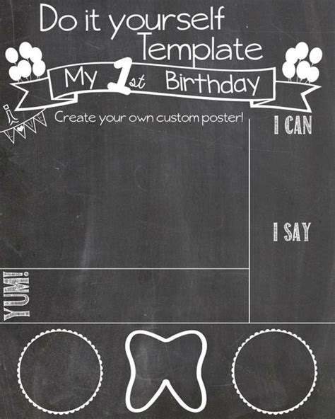 diy chalkboard sign template the world s catalog of ideas