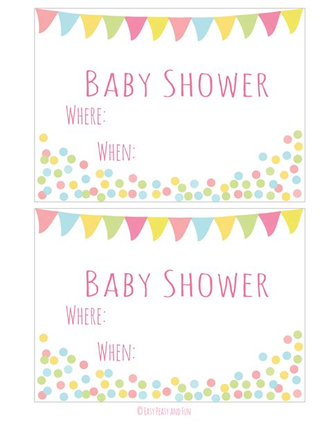 how to make baby shower invitation cards free printable baby shower invitations for