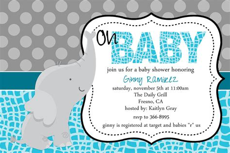 make your own baby shower cards baby elephant baby shower invitations theruntime