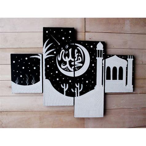 harga painting putih viva lukisan kaligrafi hitam putih dot painting elevenia