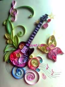 paper quilling crafts for quill guitar paper quilling craft