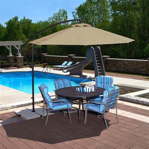patio umbrellas cantilever island umbrella santiago 10 ft octagonal cantilever patio
