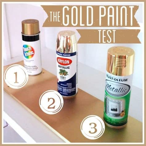 spray paint instagram the gold spray paint test
