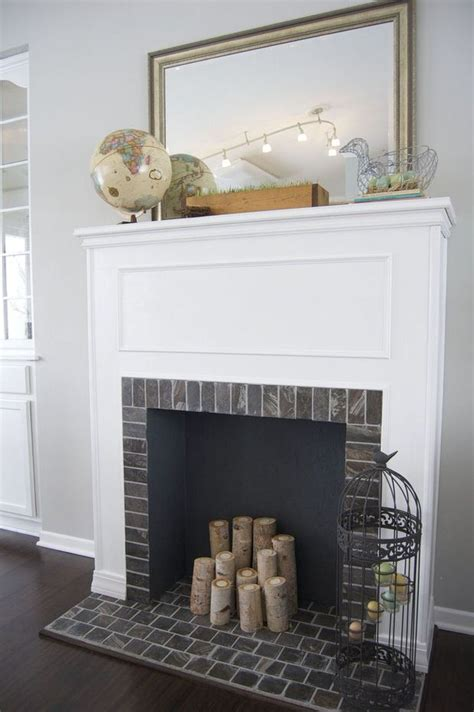 how to build fireplace diy faux fireplace the budget decorator