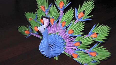 origami peacock 3d 3d origami peacock the king of birds tutorial