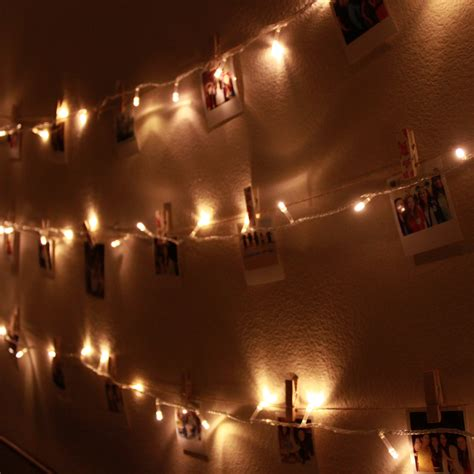 wall string lights diy polaroid wall with string lights simple stylings