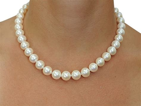 pearls jewelry 11 12mm white freshwater pearl necklace aaaa quality