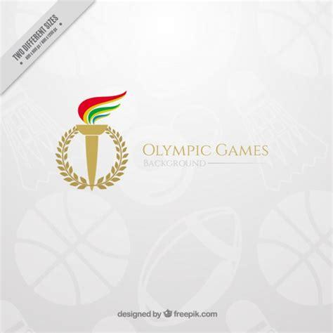 el 233 gant fond des jeux olympiques avec une torche