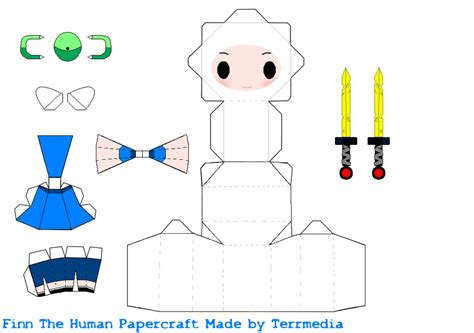 adventure time paper craft finn adventure time papercraft by terrmedia on deviantart
