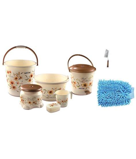 brown bathroom accessories sets nayasa brown bathroom accessories set buy nayasa brown