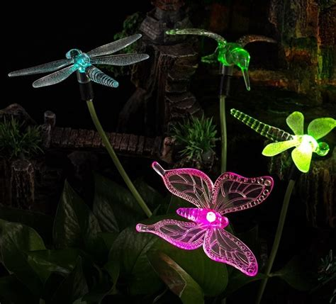 solar stake lights outdoor solar powered color changing outdoor stake lights fresh