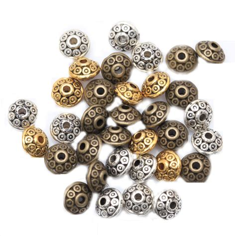 wholesale and charms in bulk wholesale 100pcs spacer charms mixed color tibetan silver