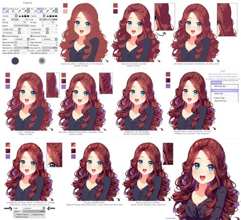 how to shade hair hyan style shading curly brown hair by hyan doodles on