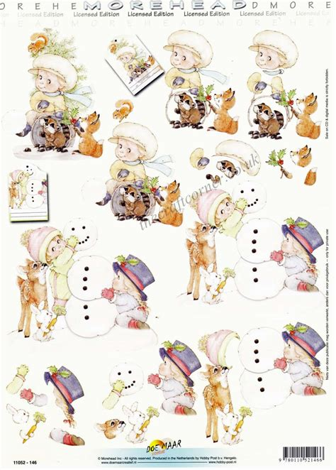 decoupage 3d pictures morehead children forest animals building a