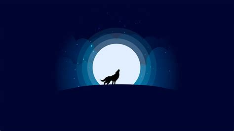 Car Wallpaper With Android Moon by Wolf With Moon Minimalist Design Wallpaper