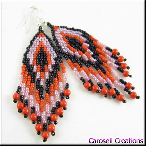 how to bead american style american style fringe seed bead earring by