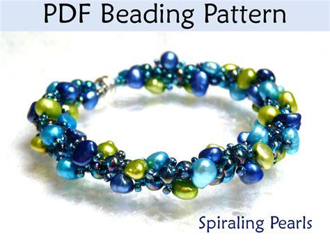 beading pdf beading tutorial pattern bracelet necklace spiral stitch