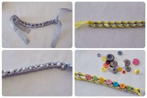 how to make ribbon jewelry ribbon and chain bracelets