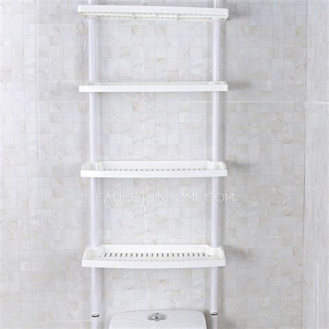 white bathroom shelves white plastic assemblable bathroom shelves toilet