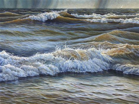 acrylic paint and water david spyker seascapes lakescapes and water