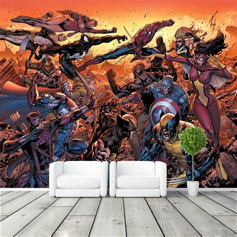 marvel wall mural aliexpress acheter photo de fond