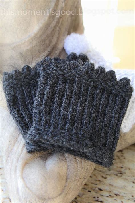 knit picot this moment is loom knit picot edged boot toppers