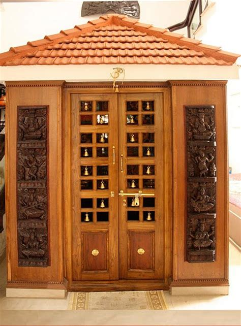 pooja room woodwork designs kerala style carpenter works and designs pooja room