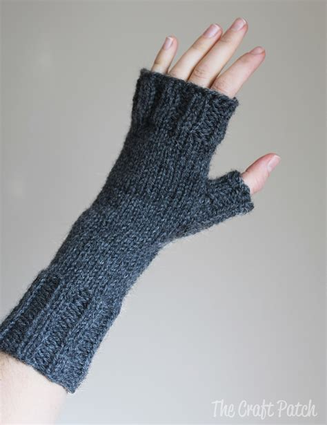 knitting gloves in the the craft patch knitted fingerless gloves