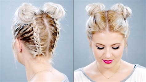 how to put on braided hair how to braided space buns on hair milabu