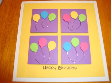 easy to make birthday cards easy handmade birthday card things to make one