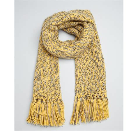 chunky knit scarf hermes yellow cashmerewoolsilk chunky knit fringe scarf in